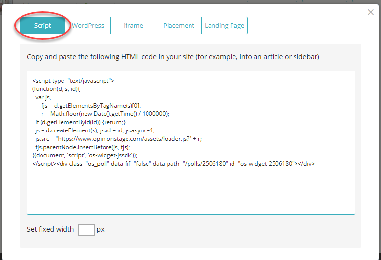 Wix poll embed code