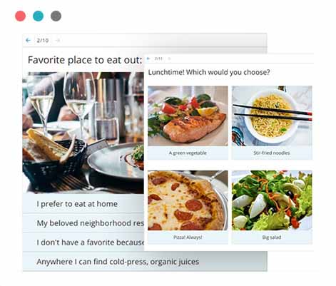 Make your own beautiful quizzes online with our tool