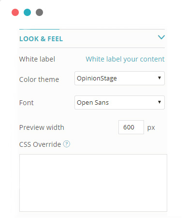 Customize form look and feel