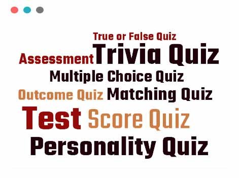 Different quiz types supported by Opinion Stage quiz maker