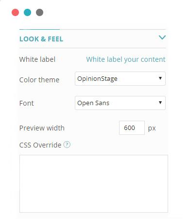 Survey maker customization options