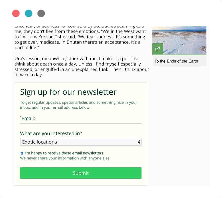 Online form maker embed