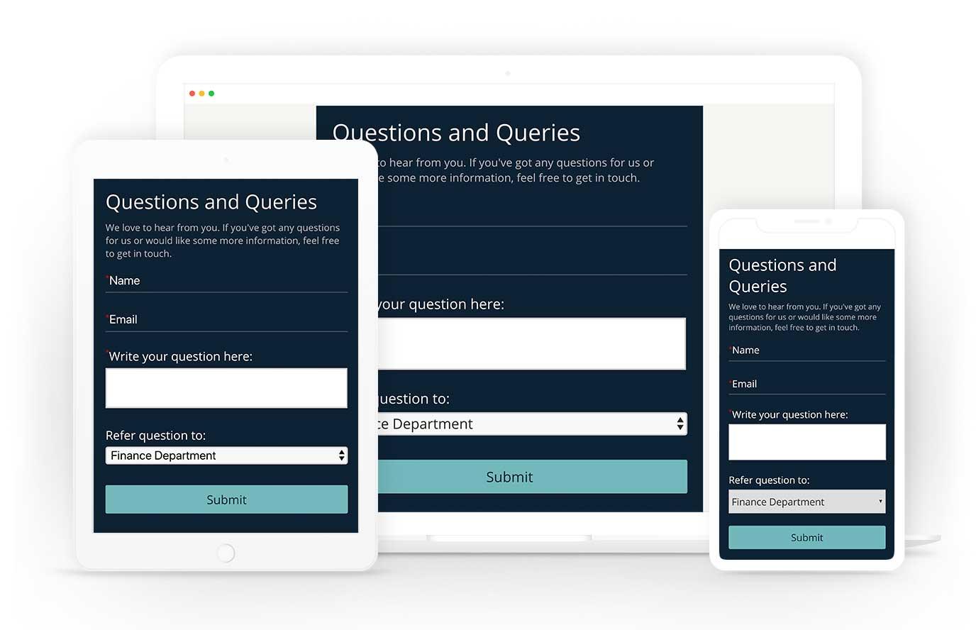 Online form maker responsive design