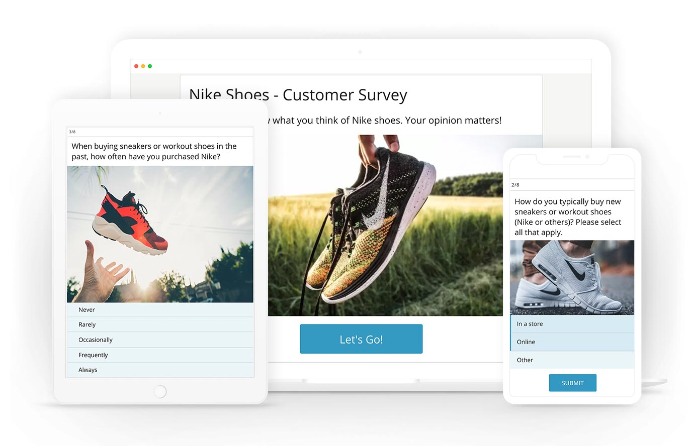 Online survey maker responsive design