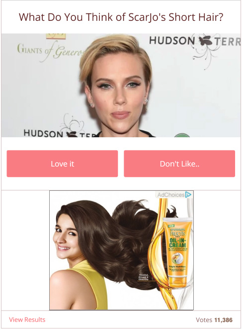 example of programmatic ad integrated in interactive content