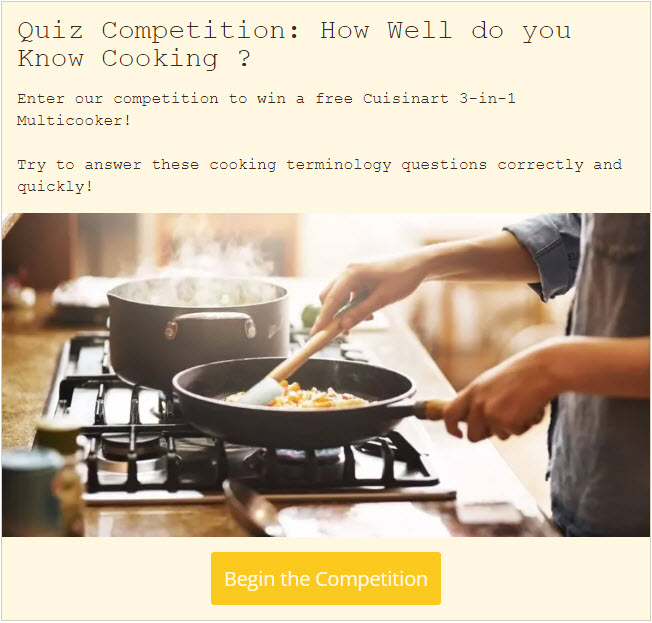 brand awareness quiz competition