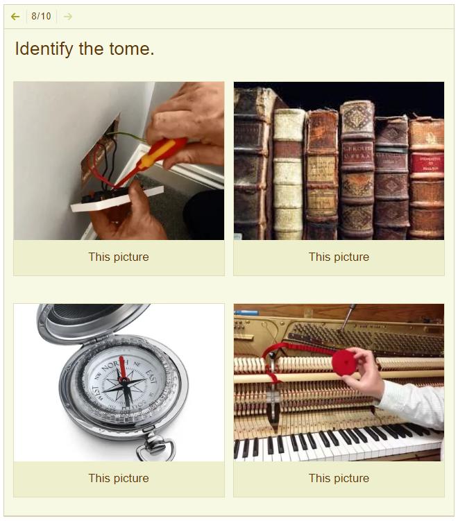 Vocabulary Quiz Image Question